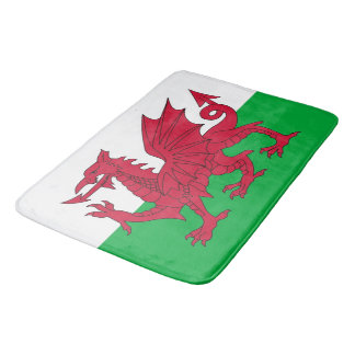 Grote badmat met vlag van Wales