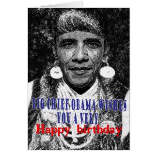 grote belangrijkste obama wenst u een gelukkige briefkaarten 0