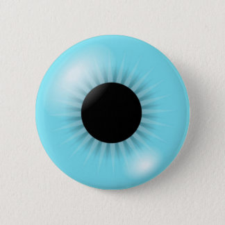 Grote Blauwe Oogappel Ronde Button 5,7 Cm