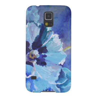 Grote Blauwe Papavers Galaxy S5 Hoesje