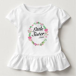 Grote bloemen de kroonNaam van de Zuster Kinder Shirts