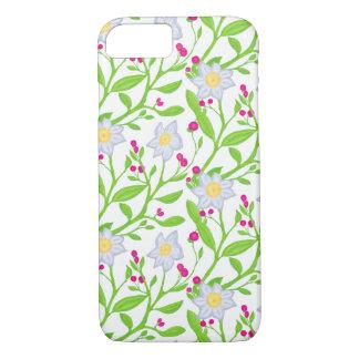 Grote bloemen en bessen iPhone 8/7 hoesje