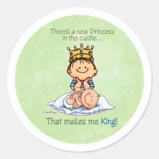 Grote Broer - Koning van Prinses Ronde Stickers