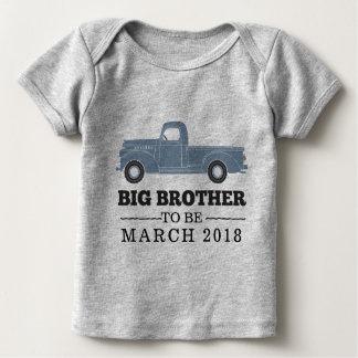 Grote Broer om het Overhemd van de Aankondiging Baby Shirt