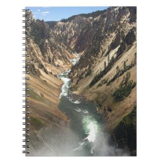 Grote Canion bij Park Yellowstone Notitieboek