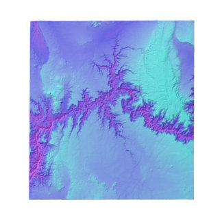 Grote Canion van Stijl van de Nevel van Arizona de Notitieblok