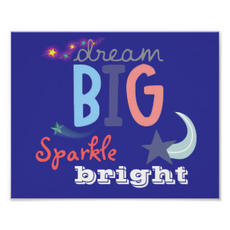 Grote de droom, fonkelt Helder Poster