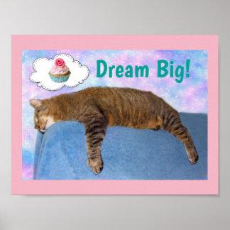Grote de Droom van de Kat van Rupie Poster