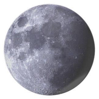 Grote dichte omhooggaand van de Maan - de Bord