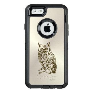 Grote Gehoornde Uil OtterBox Defender iPhone Hoesje