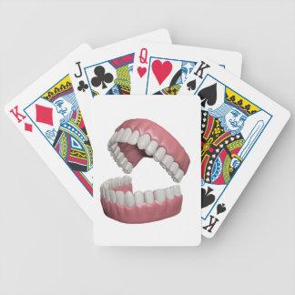 grote glimlachtanden poker kaarten