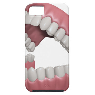 grote glimlachtanden tough iPhone 5 hoesje