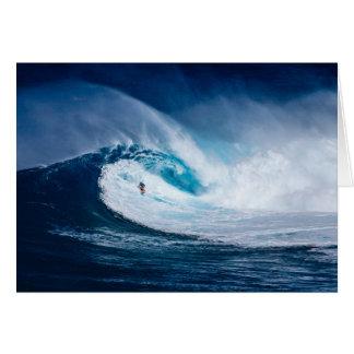 Grote Golf Surfer Surfboarding Oceaan Lege Briefkaarten 0
