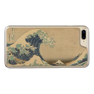 Grote Golf van Kanagawa door Hokusai GalleryHD Carved iPhone 7 Plus Hoesje