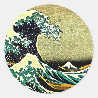 Grote Golf van Kanagawa - Katsushika Hokusai 1832 Ronde Sticker