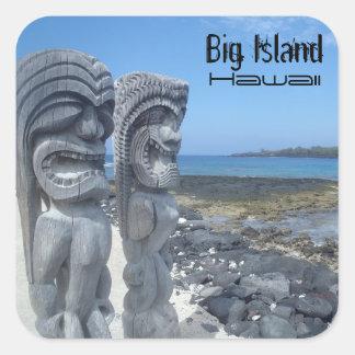 Grote het lachen van Hawaï van het Eiland Vierkante Sticker