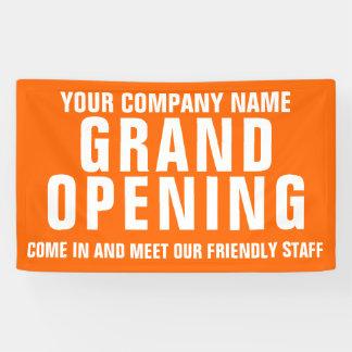 Grote het openen bedrijfssignage banner