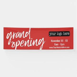 Grote het Openen Reclame - voeg Logo en Details Spandoek
