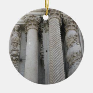 Grote Kolommen Rond Keramisch Ornament