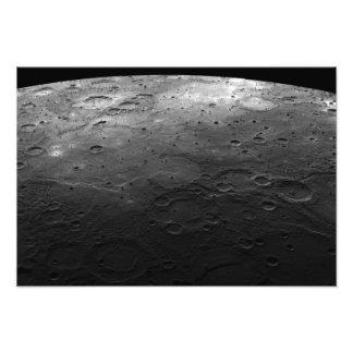 Grote kraters op de planeet Mercury Fotoafdrukken