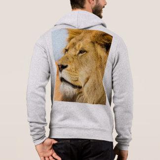 Grote leeuw die veel weg eruit zien hoodie