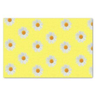 Grote madeliefjes op papieren zakdoekje 25,4 x 38,1 cm zijdepapier