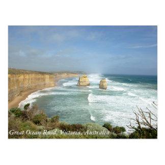 Grote OceaanWeg, Victoria, Australië Briefkaart