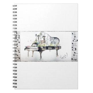 Grote piano notitie boek