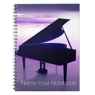 Grote Piano op het Notitieboekje van de Muziek van Notitie Boek