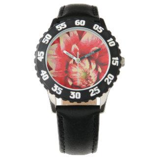 Grote rode bloem horloges
