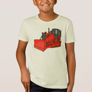 Grote Rode Bulldozer T Shirt