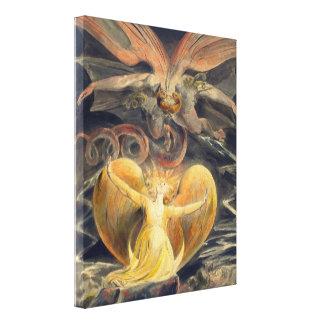 Grote Rode Draak door William Blake Canvas Afdruk