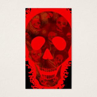 Grote Rode het visitekaartje verticale zwarte van Visitekaartjes