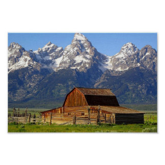 Grote Schuur Tetons Poster