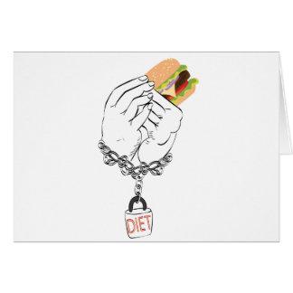 Grote Smakelijke Hamburger en Handen Kaart