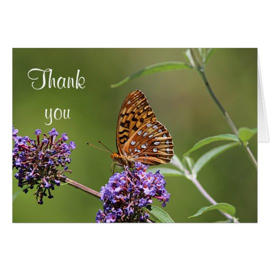 Grote spangled fritillary vlinder wenskaart