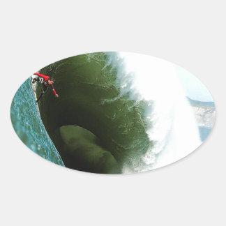 Grote Steile het Surfen Golf Ovale Sticker