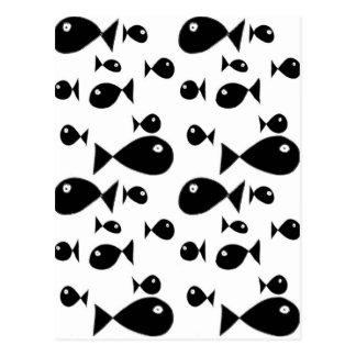 Grote vissen briefkaart