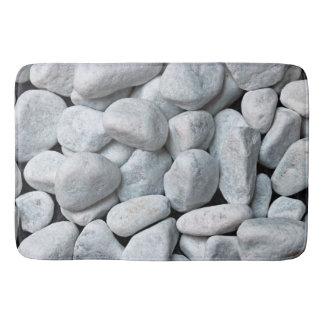 Grote Witte Stenen Badmat