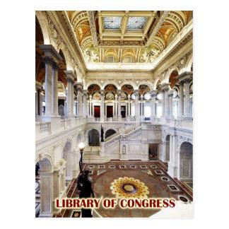 Grote Zaal, Bibliotheek van Congres, Washington, Briefkaart
