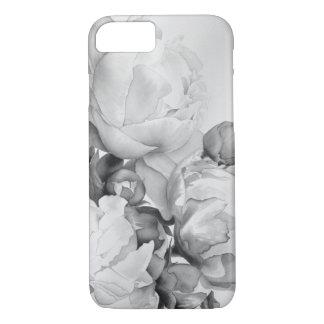 Grote zwart-witte Pioen - iPhone 8/7 Hoesje