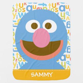 Grover Baby| voegt Uw Naam toe Inbakerdoek
