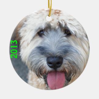 Grover (Wheaten Terrier) 1 Rond Keramisch Ornament
