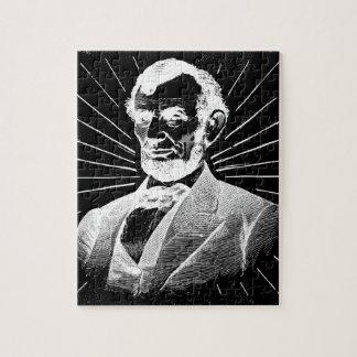 grunge Abraham Lincoln Puzzel