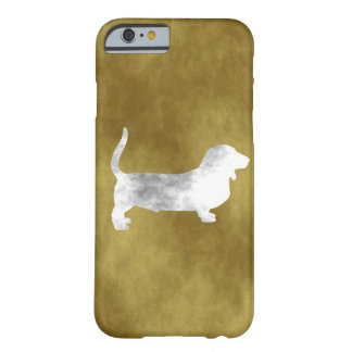 grunge basset hond barely there iPhone 6 hoesje