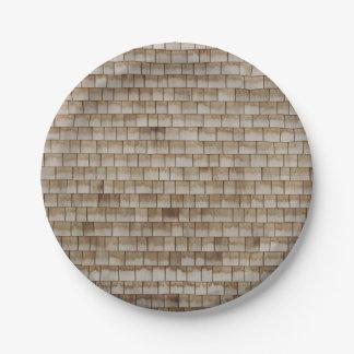 grunge beige houten muurtextuur papieren bordje