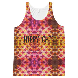 Grunge Elegante Hippy All-Over-Print Tank Top