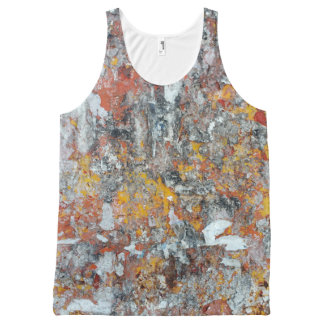 grunge het patroon verschrompelde abstracte pap All-Over-Print tank top
