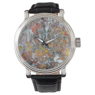 grunge het patroon verschrompelde abstracte pap horloges