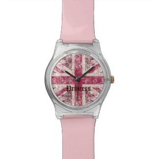 grunge Union Jack Britse Vlag Horloge